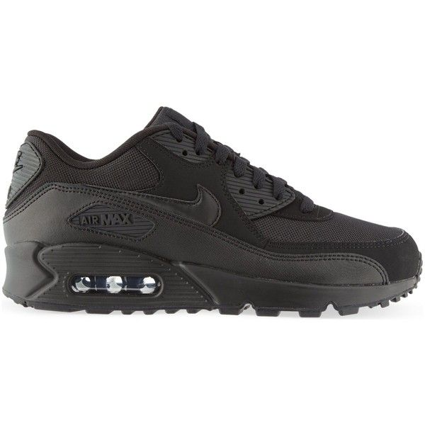 NIKE Air Max 1 mesh and leather trainers ($125) ❤ liked on Polyvore featuring men's fashion, men's shoes, men's sneakers, nike mens shoes, nike mens sneakers, mens lace up shoes, mens leather lace up shoes and mens black leather sneakers