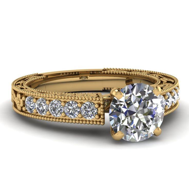 Round Cut Vintage Engagement Ring