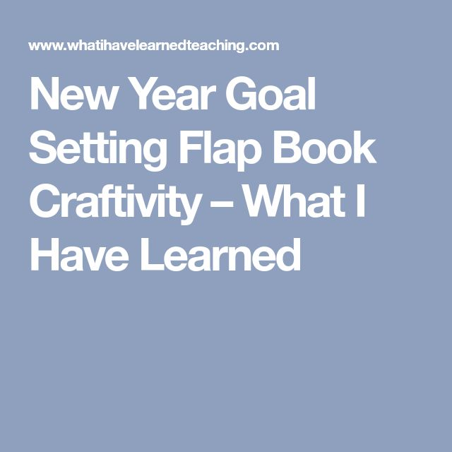 New Year Goal Setting Flap Book Craftivity – What I Have Learned