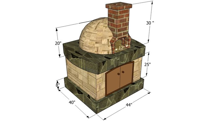 wood brick oven construction 2