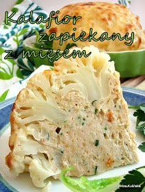 Smaczna Pyza - Sprawdzone przepisy kulinarne: Kalafior zapiekany z mięsem i sosem serowym