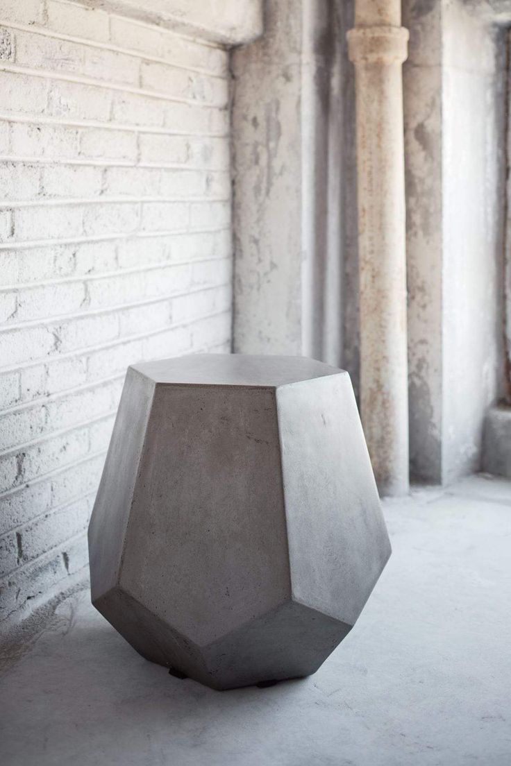 Faceted Hexagonal Stool by Urbia at Gilt