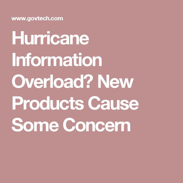 Hurricane Information Overload? New Products Cause Some Concern