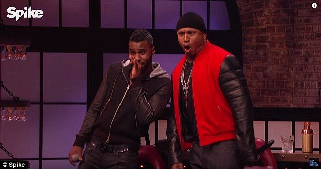 Shocked reaction: Jason and host LL Cool J were shocked by Katharine's performance