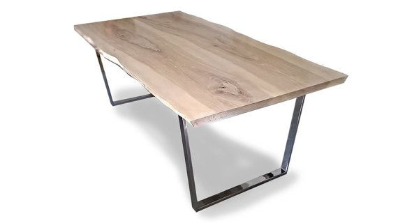"Ash  Industrial Dining Table "" OFLIS"" with Steel Legs, Industrial Design, Modern"