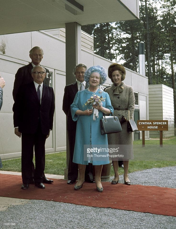 May 1976, HM, Queen Elizabeth the Queen Mother opening the Cynthia Spencer House, the Northampton Hospice named after the late wife of the 7th Earl Spencer