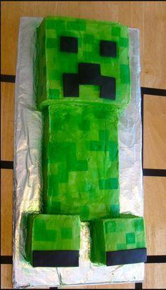 minecraft cake creeper for boy birthday                              …