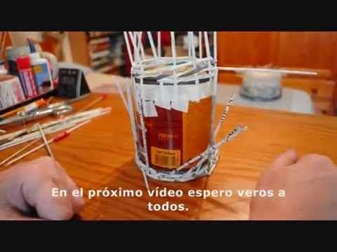 8.1. (subt) Cómo alzar los tubos: base trenzada.