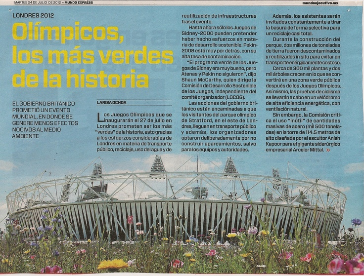 Los Olímpicos más verdes de toda la historia en materia de reciclaje, uso del agua y de reutilización de la infraestructura tras el evento.