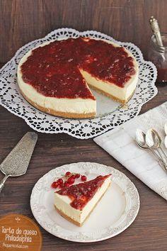 Tarta de queso philadelphia sin horno ymuy fácil