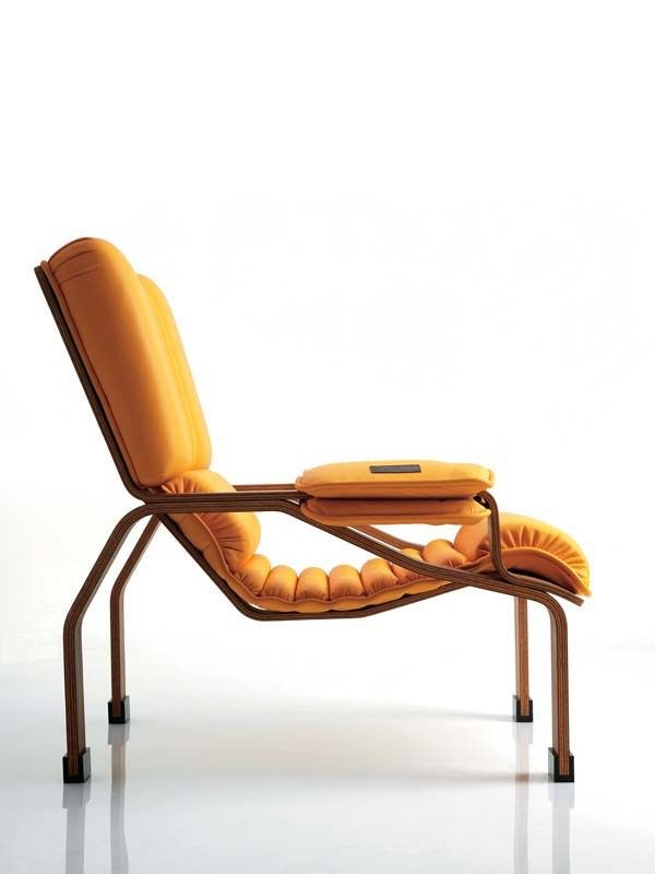 Walnut Armchair With Armrests Superleggera By B Line