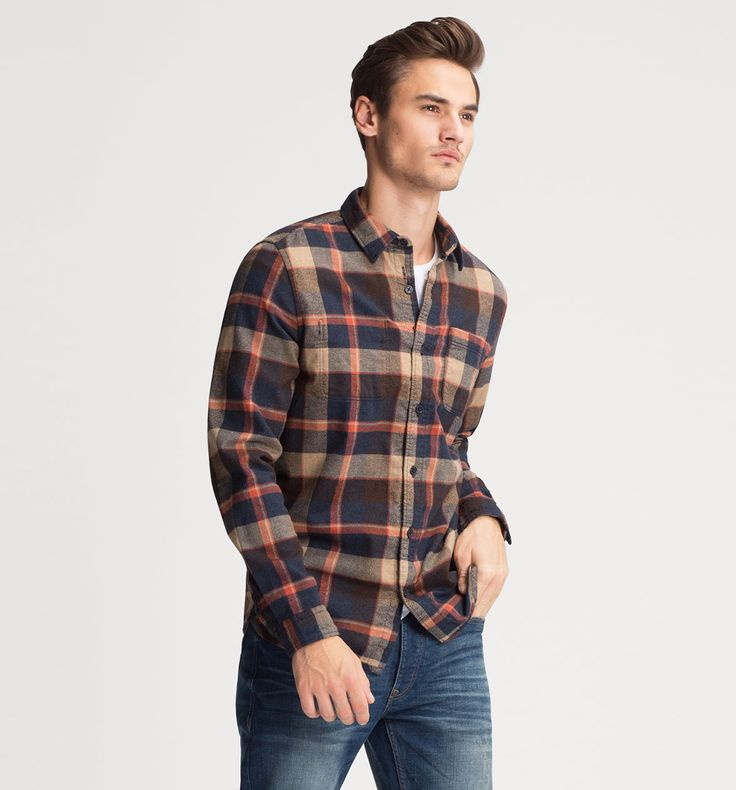 Frontimage view Flanellhemd Regular Fit in multicolored plaid