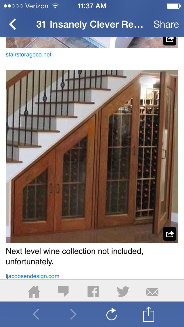 Or a wine rack under the stairs!