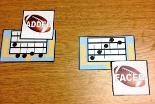 Music Spelling - Sports Edition - review the main treble clef pitches used on recorder using baseball, basketball, football, and basketball themes - I created it for my 4th and 5th grade boys ;)