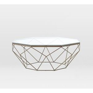 Good Geometric Coffee Table Simple And Sculptural, This Coffee Table Combines A  Geometric Iron Base With A Glass Top For An Airy Vibe. X X Glass Top. Photo Gallery