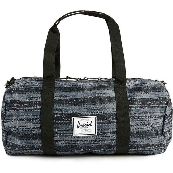 TOPMAN Herschel Navy and Black Blended Print Holdall Bag ($72) ❤ liked on Polyvore featuring men's fashion, men's bags, grey and mens holdall bags