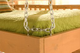 directions to make a hanging porch bed.