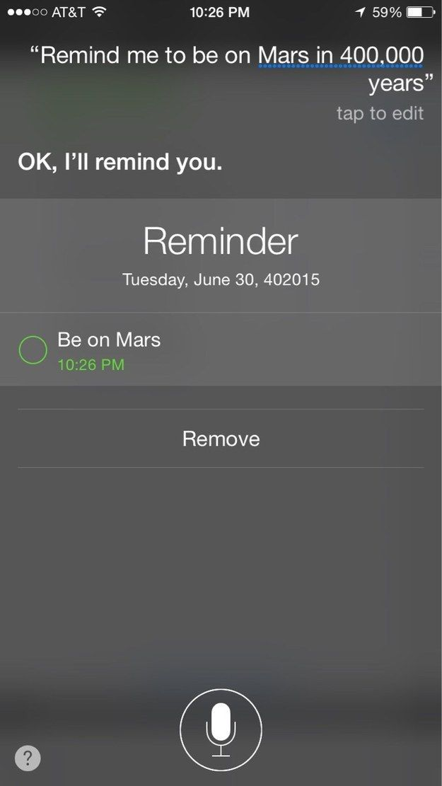 Ask her to schedule an appointment for your corpse: | 25 Times Siri Gave A Master Class In Sass