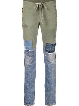Greg Lauren джинсы кроя скинни в стиле пэчворк
