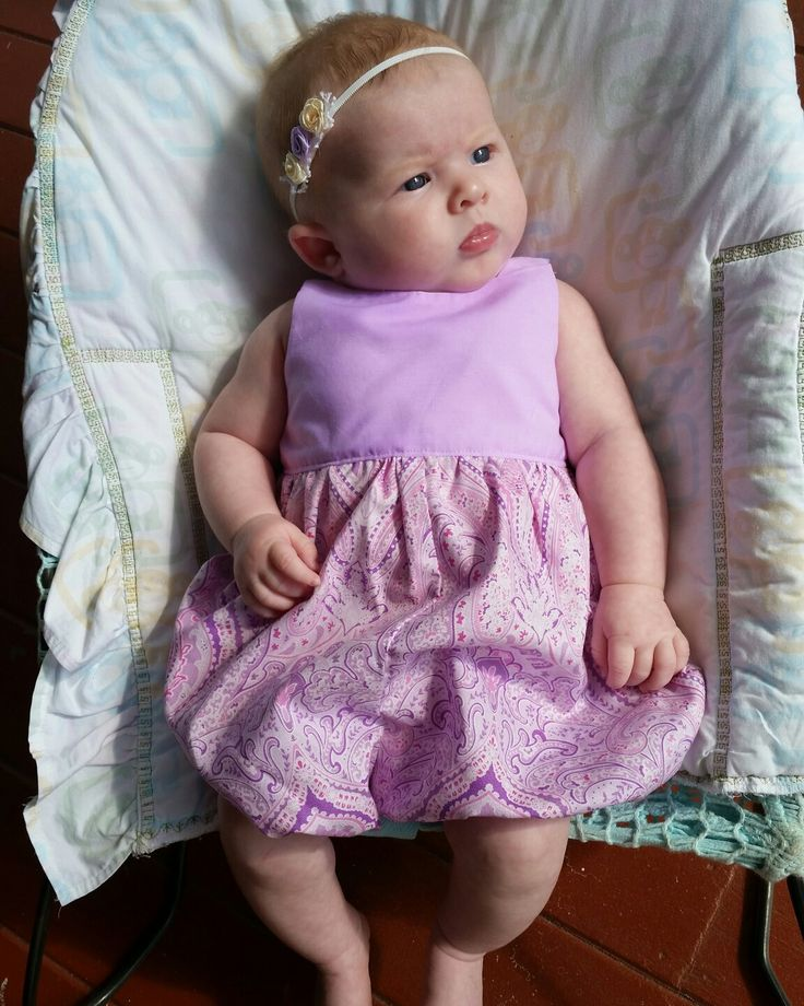 Baby Tea Party Romper made feom Tadah pattern