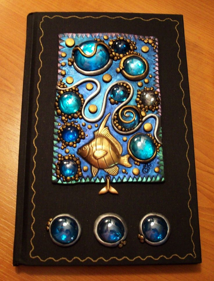 Deep Blue Sea Book: Mandarinmoon Deviantart Com, Polymer Journals, Clay Artists, Clay Inspiration, Diy Crafts Projects, Clay Jewellery, Clay Books, Books Full, Polymer Clay