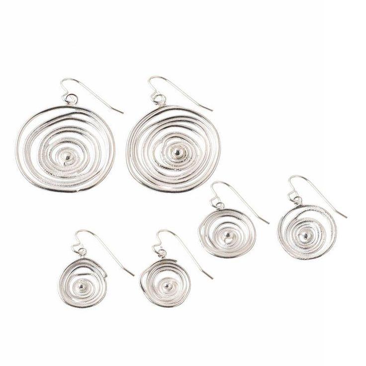 Silver swirl dangly earrings #handmadejewellery