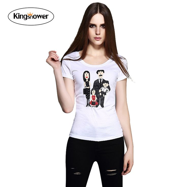 2016 Spring Brand T-shirt Family of Four Popular Young Lady's Women's Summer Short Sleeve Mercerized Cotton Love Tops Tee Z6027
