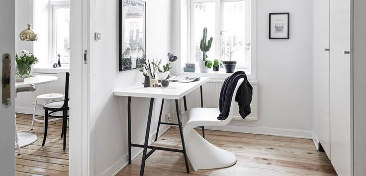 Corner of work with Nordic style