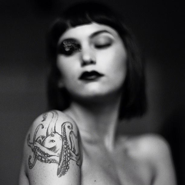 The girl with the octopus tattoo. #film @Julia Van Horne - @ryanmuirhead- #webstagram