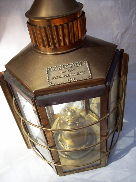 Huge brass ship lantern antique reproduction by