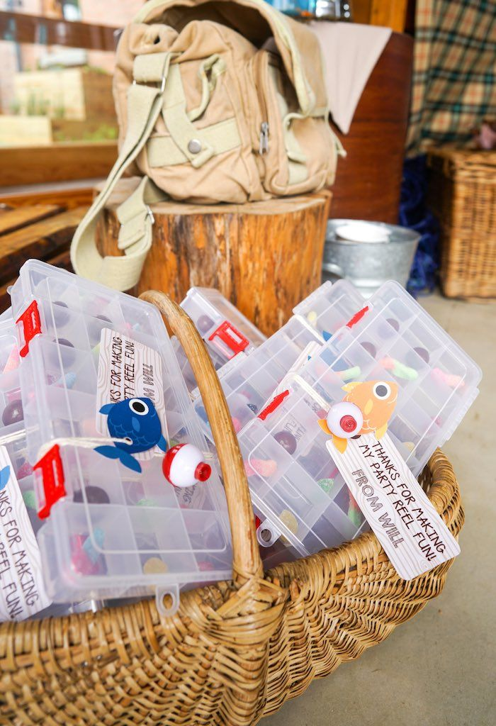 Tackle Box Favors From A Gone Fishing Birthday Party Via Kara S Party Ideas Karaspartyideas
