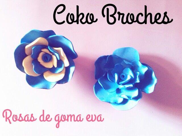 rosas de goma eva por 5€ Informacoko@gmail.com