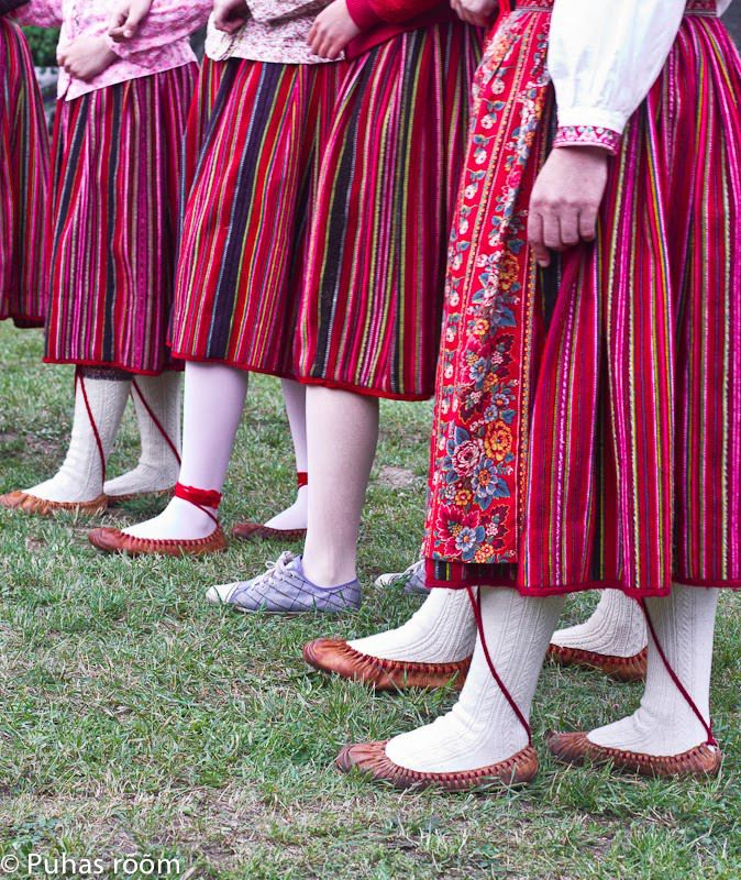 the distinguish pattern of Island of Kihnu. Estonia