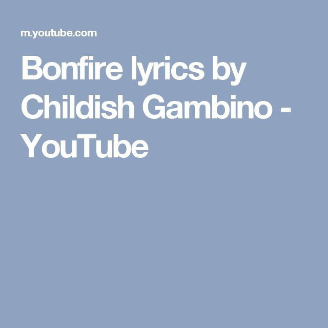 Childish Gambino Sober Lyrics