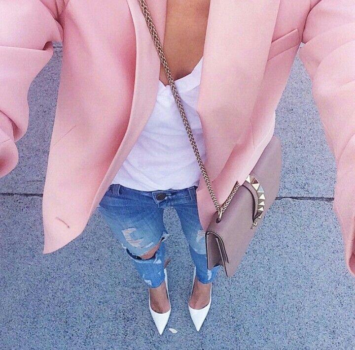 Best pink blazer ever ! #DKNY