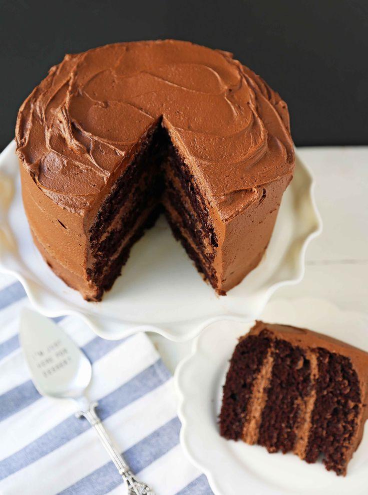 Liebe auf den ersten Blick Schokoladenkuchen – moderner Honig