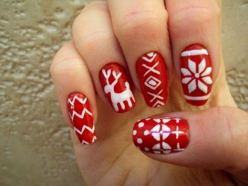 Christmas nail designs tumblr | Cute stiletto nails tumblr | Easy christmas nail designs | Make christmas   nail designs.............❄⛄❄