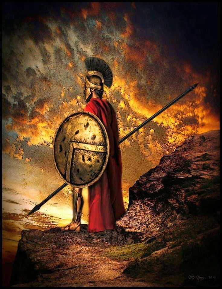 Spartans were brave soldiers that avoid all comfort. They were known for their self discipline and ability to endure pain.