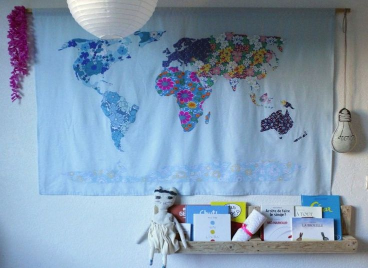 WORLD MAP, ET COUDRE LE MONDE.