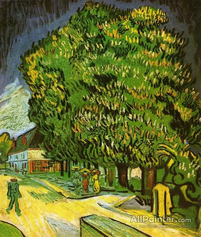 Vincent Van Gogh Chestnut Trees In Bloom oil painting reproductions for sale