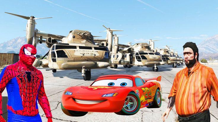 Şimşek McQueen Örümcek Adam Recep İvedik Helikopter İle Lüks Araba Tesli...