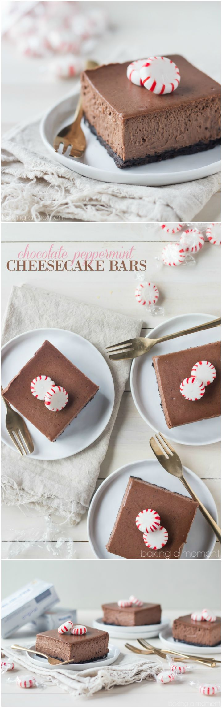 I made these Chocolate Peppermint Cheesecake Bars for Christmas and they were a huge hit! The cheesecake is so chocolate-y and creamy, and I loved that cool hit of peppermint! @spreadphilly #OneAndOnlyPhilly #HolidaysAreMadeWith #spon