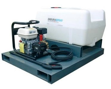 Skid mounted pressure washer 200 litres. This skid mounted pressure washer has been designed to take up less space on a truck bed, trailer, van and other utility vehicle. For more information or a quotation please visit our website http://www.fresh-group.com/waterers-and-bowsers.html or call us on 0845 3731 832