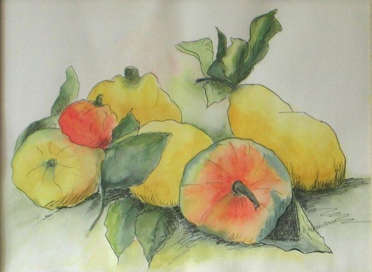 Obst, Aquarell