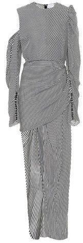 Magda Butrym Sevilla striped silk dress