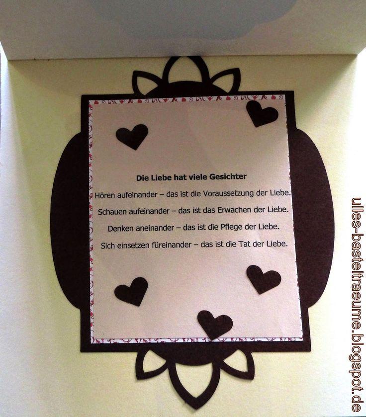 რ Ulles Bastelträume mit Herz რ: Glückwunsch zur Hochzeit mit Rosentraum