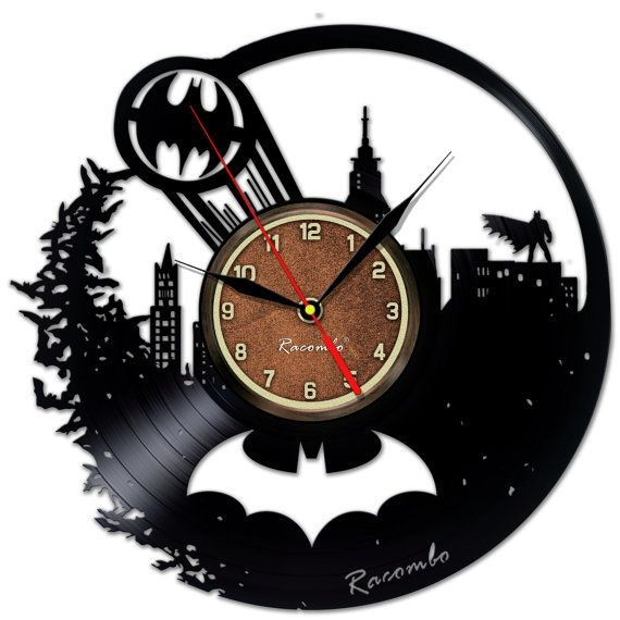 Batman arte pared reloj superhéroe regalo por FirstUniversalStore