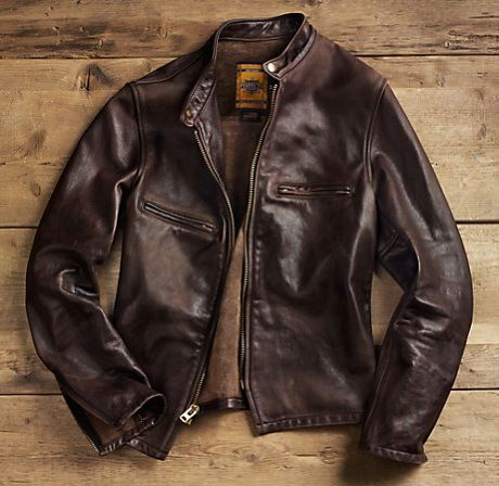 Men's Brown Leather Jacket #MensFashion