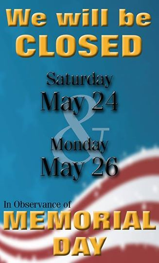 memorial day closed email