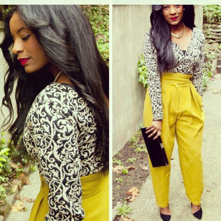Loooove the pants #yellowismellow, Hair is on point.